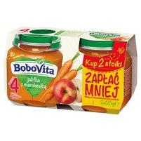 BOBOVITA Jabłka z marchewką po 4. m-cu (2 szt.)