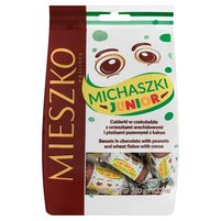 MIESZKO Michaszki Junior Cukierki w czekoladzie z orzeszkami arachidowymi