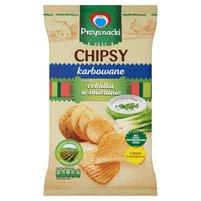 PRZYSNACKI Chipsy karbowane o smaku cebulka w śmietanie