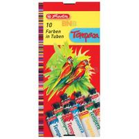 HERLITZ Tempera 10 farb w tubkach