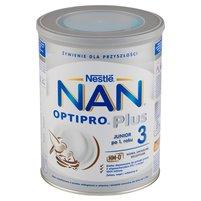 NAN OPTIPRO Plus 3 Mleko modyfikowane w proszku dla dzieci po 1. roku