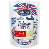 BUTCHER'S Delicious Dinners Karma dla dorosłych kotów kawałki w sosie z wołowiną