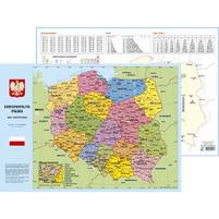 KRESKA Administracyjna mapa Polski Podkładka na biurko B3