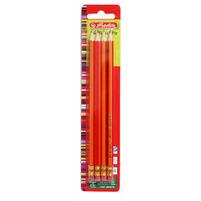 HERLITZ Ołówki z niełamliwym grafitem HB i gumką