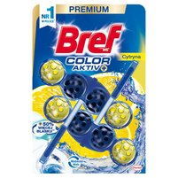 BREF WC Color Aktiv Zawieszka do muszli WC cytryna (2x50g)