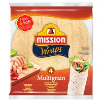MISSION Wraps Tortille z mąki pszennej z siemieniem lnianym (4 sztuki)