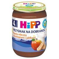 HiPP BIO Przysmak na Dobranoc Kaszka mleczna z biszkoptami i jabłkami po 4. miesiącu