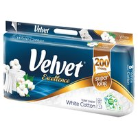 VELVET Excellence White Cotton Papier toaletowy