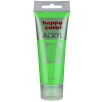 HAPPY COLOR Farba akrylowa zielony fluo