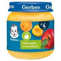 GERBER Jabłuszka z morelami dla niemowląt po 4. m-cu