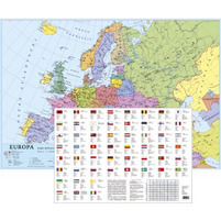 KRESKA Mapa Europy Podkładka na biurko A2