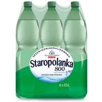 STAROPOLANKA 800 Naturalna woda mineralna średniozmineralizowana gazowana (6x1,5L)