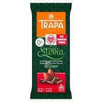 TRAPA Czekolada gorzka 80% kakao ze stewią bez dodatku cukru