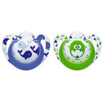NUK Genius Color Silikonowy smoczek uspokajający dla chłopca (0-6 miesięcy)