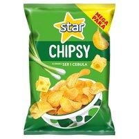 STAR Chipsy o smaku ser i cebula