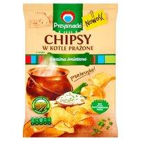 PRZYSNACKI Chipsy w kotle prażone o smaku kwaśnej śmietany
