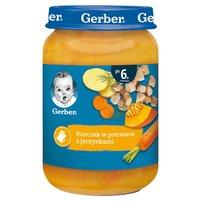 GREBER Kurczak w potrawce z jarzynkami dla niemowląt po 6. m-cu
