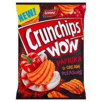 CRUNCHIPS Wow Grubo krojone chipsy ziemniaczane o smaku kremowej papryki