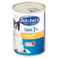 BUTCHER'S Karma dla psów powyżej 7 roku życia pasztet z kurczakiem szynką i ryżem