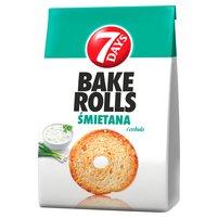 7 DAYS Bake Rolls Chrupki chlebowe o smaku śmietanowo-cebulowym