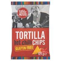 CASA DE MEXICO Tortilla hot chilli chips Bezglutenowe chipsy kukurydziane