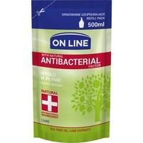 ON LINE Mydło w płynie limonkowe z naturalnym czynnikiem antybakteryjnym (zapas)