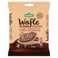 KUPIEC Wafle ryżowe z belgijską czekoladą deserową i kawałkami maliny (2 szt.)