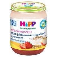 HiPP BIO Moje Śniadanko Musli jabłkowo-truskawkowe z jogurtem po 9. miesiącu