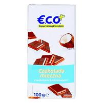 ECO+ Czekolada mleczna z wiórkami kokosowymi