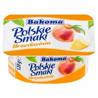 BAKOMA Polskie Smaki Deser jogurtowy z brzoskwiniami