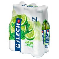 LECH Free Piwo bezalkoholowe limonka z miętą (6 x 330 ml)