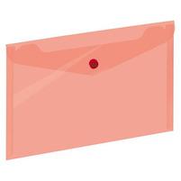 GRAND Koperta A5 na dokumenty z zatrzaskiem Transparentna czerwona