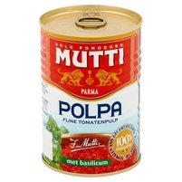 MUTTI Pulpa Pomidory drobno krojone bez skórek z bazylią