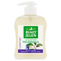 BIAŁY JELEŃ Premium Hypoalergiczne mydło w płynie Czarny bez