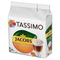 TASSIMO Jacobs Latte Macchiato Caramel Kawa mielona (8 kaps.) i mleko (8 kaps.)