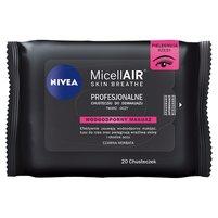 NIVEA MicellAir Skin Breathe Profesjonalne chusteczki do demakijażu makijaż wodoodporny