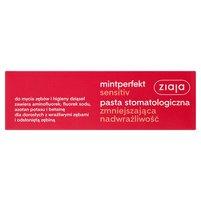 ZIAJA Mintperfekt Sensitiv Pasta stomatologiczna zmniejszająca nadwrażliwość