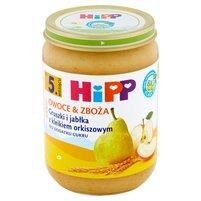 HIPP BIO Owoce & Zboża Gruszki i jabłka z kleikiem orkiszowym po 5. m-cu