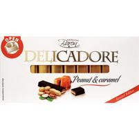 BARON Delicadore Batoniki czekoladowe z nadzieniem karmelowym i orzeszkami arachidowymi