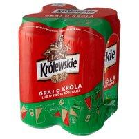 KRÓLEWSKIE Piwo jasne (4 x 500 ml)
