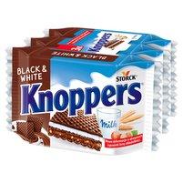 KNOPPERS Black & White Wafelek mleczno-orzechowy (3 x 25 g)