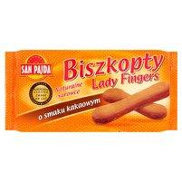 SAN PAJDA Biszkopty Lady Fingers o smaku kakaowym