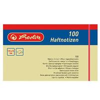 HERLITZ Kartki samoprzylepne 125x75mm Żółte