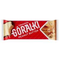 GÓRALKI Peanut Butter Wafelek z kremowym nadzieniem w polewie kakaowej