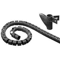 TECHLY Osłona kablowa 25mm x 2,5m czarna