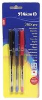 PELIKAN Stick pro Długopis z gumowanym uchwytem 3 kolory