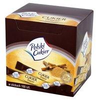 POLSKI CUKIER Cukier brązowy trzcinowy w stickach (100 szt.)