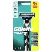 GILLETTE Mach3 Rączka maszynki do golenia + 5ostrzy wymiennych