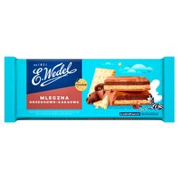 E. WEDEL Cookie Czekolada mleczna z nadzieniem orzechowo-kakaowym z orzeszkami i herbatnikiem