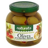NATURETA Zielone oliwki nadziewane papryką